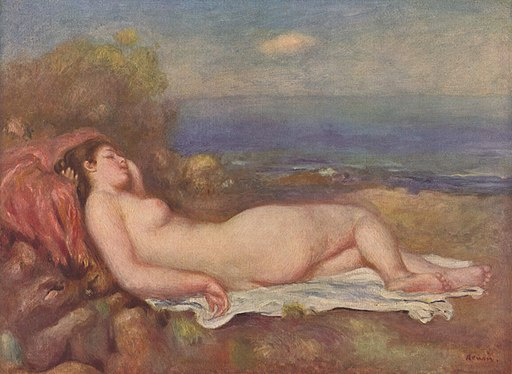 Pierre-Auguste Renoir - Sleeping by the sea
