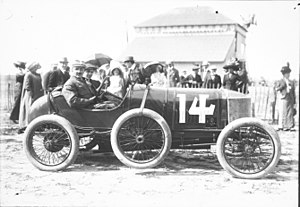 Calthorpe cars - Pierre Garcet in his Calthorpe at the 1912 French Grand Prix in Dieppe