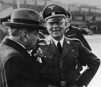Pierre Laval - Laval with the head of German police units in France, Carl Oberg