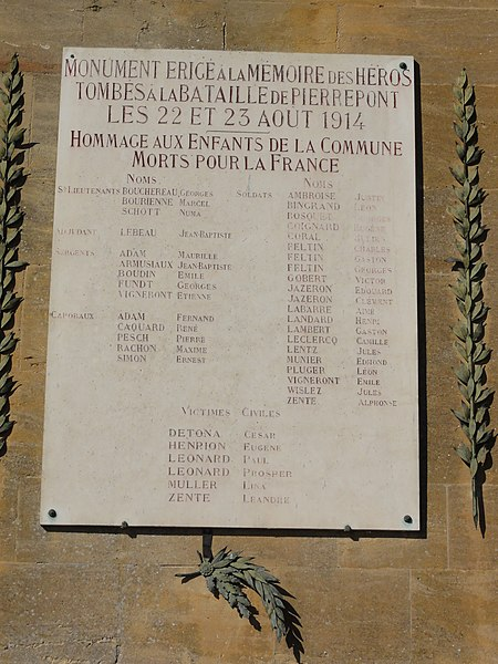 Pierrepont (Meurthe-et-M.) Nécropole nationale de Pierrepont