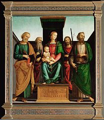 Mary with Child and Four Saints
