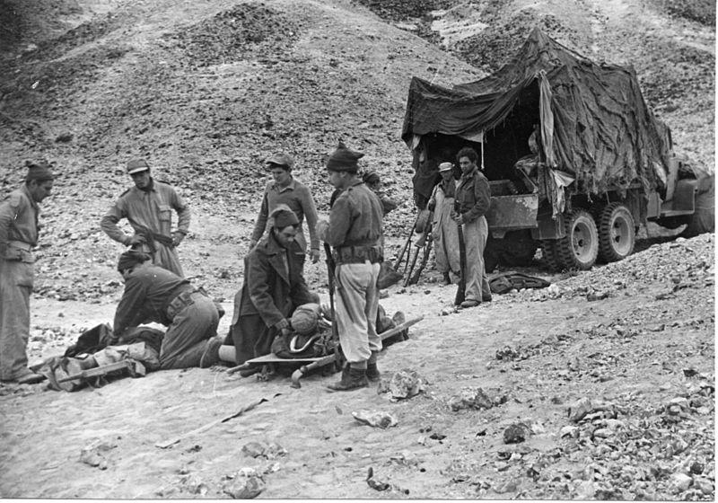 מבצע חורב - טיפול בנפגעים לאחר הפצצה מצרית