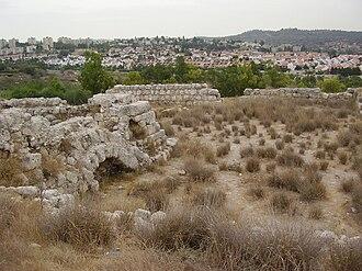 Beit Shemesh - Tel Beit Shemesh overlooking modern Beit Shemesh