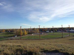 Pilot Butte, Saskatchewan - The Pilot Butte Ball Diamonds as Seen From the Butte Hill in Inland Park.