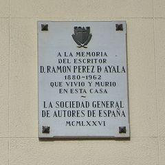 Placa conmemorativa de Ramón Pérez de Ayala
