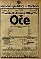 Plakat za predstavo Oče v Narodnem gledališču v Mariboru 17. decembra 1921.jpg