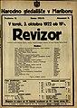 Plakat za predstavo Revizor v Narodnem gledališču v Mariboru 3. oktobra 1922.jpg