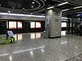Platform of Tieji Road Station from train of Wuhan Metro Line 4.jpg