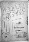 plattegrond tuin naar copie van figuratieve kaart van 1668 gemeente archief