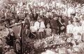 Pogreb enajstletnika ponesrečenega na izletu v Logarski dolini na pobreškem pokopališču 1960.jpg