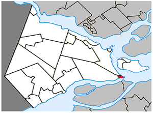 Pointe-des-Cascades, Quebec - Image: Pointe des Cascades Quebec location diagram