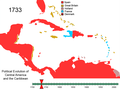 Political Evolution of Central America and the Caribbean 1733.png