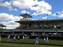 Stade de polo dans les villages, en Floride.
