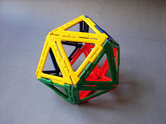 Manipulative (mathematics education) - A Polydron icosahedron