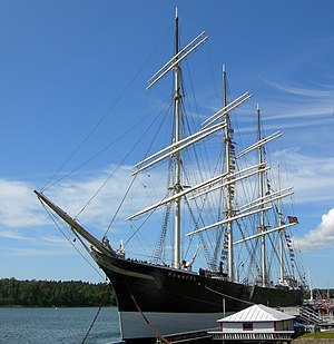 Windjammer - The Pommern, anchored in the western of Mariehamn, Finland's, two harbours, Västerhamn
