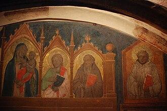 Poppi Castle - Fresco detail by Taddeo Gaddi, Poppi Castle