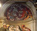 Pordenone, deposizione, 1522, 02 sacrificio di isacco e pavone.jpg