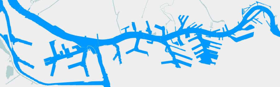 Carte du Port de Rotterdam