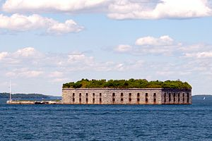 Harbor Defenses of Portland - Fort Gorges.