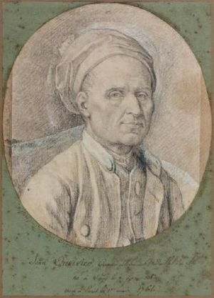 Pierre-Simon-Benjamin Duvivier - Portrait by Benjamin of his father, Jean Duvivier, dated the year after his father's death