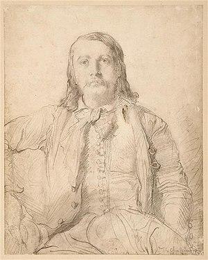 Théophile Gautier - Portrait of Théophile Gautier by Théodore Chassériau (musée du Louvre).