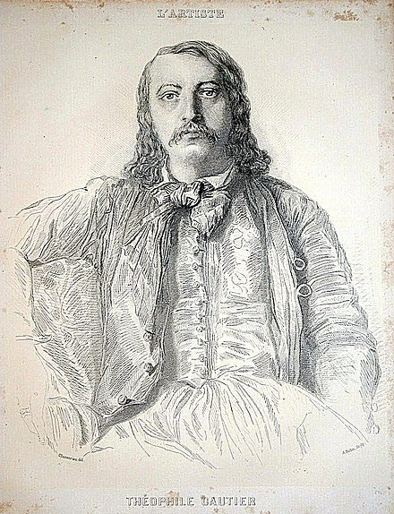 Portrait of Theophile Gautier by Theodore Chasseriau (musee du Louvre). Portrait de Theophile Gautier.jpg