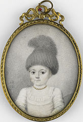 Portret van een meisje met een 'valhoedje'