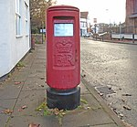 Post box at The Village post office, West Kirby.jpg