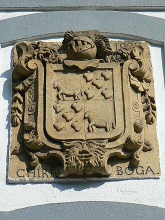 Pottok - Pottoks on a coat of arms in Zestoa.