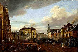 Tyszkiewicz Palace, Warsaw - Image: Powrót wojsk polskich 1830