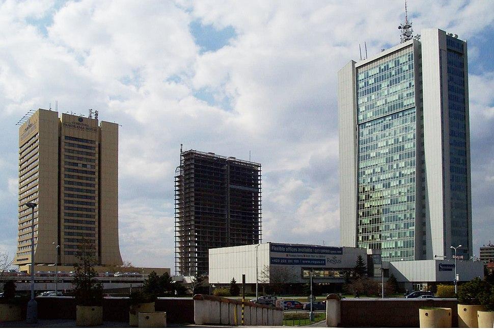 Praha, Pankrác, mrakodrapy