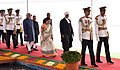 Pranab Mukherjee, the President-elect, Shri Ram Nath Kovind, the Vice President, Shri M. Hamid Ansari, the Speaker, Lok Sabha, Smt. Sumitra Mahajan and the Chief Justice of India.jpg