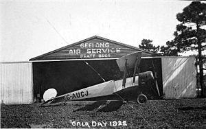 Belmont, Victoria - The Pratt Brothers hangar on Belmont Common