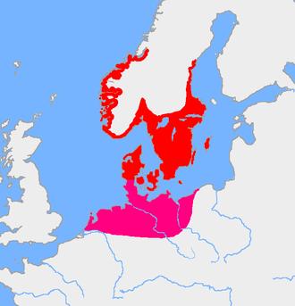 Iron Age Scandinavia - Extent of Pre-Roman Iron Age settlements in Scandinavia, 4th century BC - 1st century BC
