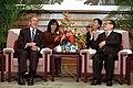 President Bush and President Zemin in Beijing, 2002.jpg