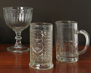 Pressed glass - Pressed glass drinking glasses
