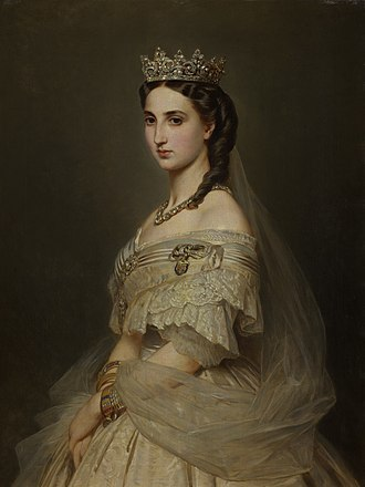 Carlota of Mexico - Empress Carlota by Franz Winterhalter, 1865.