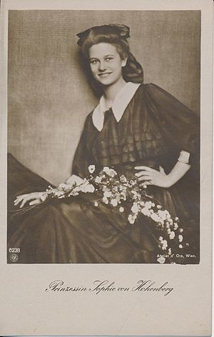 Princess Sophie of Hohenberg - Princess Sophie as a young woman