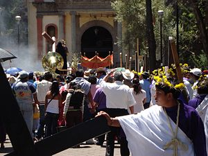 Iztapalapa - Procession at the Señor de la Cuevita Sanctuary