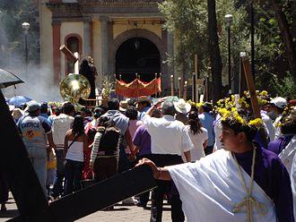 Iztapalapa - Procession at the Señor de la Cuevita Sanctuary