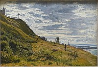 Promenade sur la falaise de Sainte-Adresse, by Claude Monet, 1867, oil on canvas - Matsuoka Museum of Art - Tokyo, Japan - DSC07396.JPG