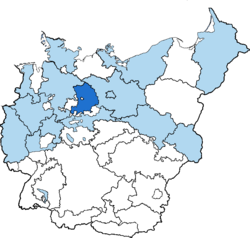 Location of Magdeburg