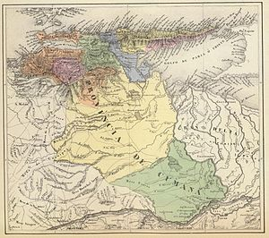 New Andalusia Province - 1840 map of the Province by Agostino Codazzi.