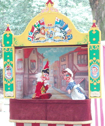Punch and Judy in Russell Square - geograph.org.uk - 463446