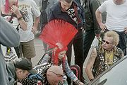 Punk Red Mohawk Morecambe 2003