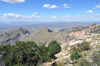 Pusch Ridge Wilderness Area - Pusch Ridge from the western summit of Prominent Point