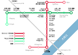 Pyongyang Metro Map in Chinese.png