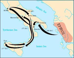 Route of Pyrrhus of Epirus