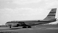 Qantas Boeing 707 Heathrow 1961.jpg