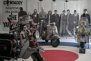 Mod (subculture) - Quadrophenia exhibit at the Cotswold Motor Museum in Bourton-on-the-Water in 2007